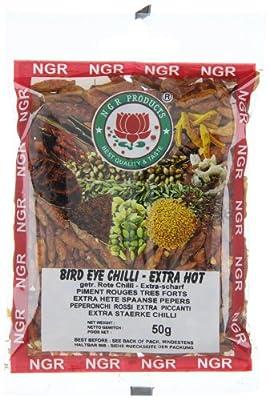 Ngr Chilischoten, extra scharf, (bird eye chilli), 50g, 3er Pack (3 x 50 g Packung) von Ngr auf Gewürze Shop