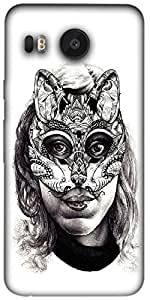 Timpax Light Weight One-piece construction Hard Back Case Cover Printed Design : I am a mouse.For LG Nexus 5X