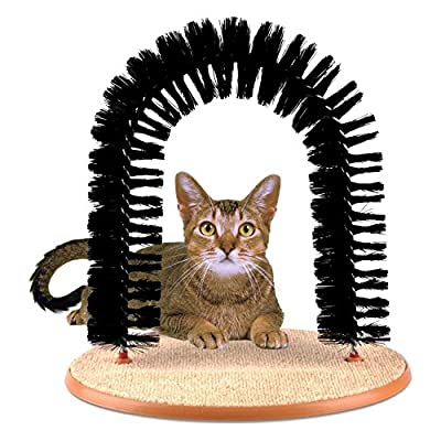 Prime Paws Amazing Arch - All In One Cat Groomer Massager & Scratcher