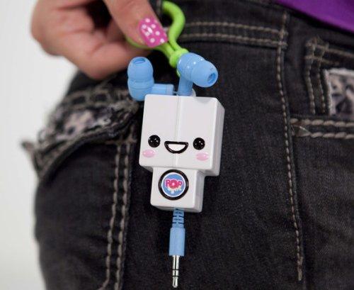 Pop Grrl I-Popping Earbuds Robot
