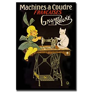 Trademark fine art machines a coudre canvas wall art for Machine a coudre 70 euro