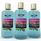 WOW Organics Hair Strengthening Shampoo, 3x300ml