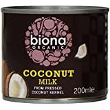 Biona Organic Coconut Milk 200 ml (Pack of 8)