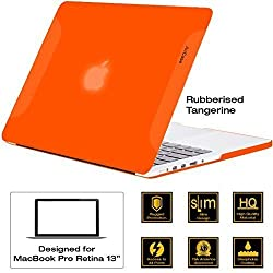 AirPlus-Retina 13-inch Neon Series satin finish Hard Case Shell Cover for Apple MacBook Pro 13.3 with Retina Display [Tangerine (Orange)]