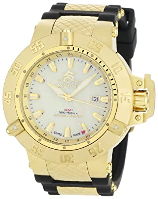 Invicta Men's 0738 Subaqua Noma III Collection GMT Black Polyurethane Watch