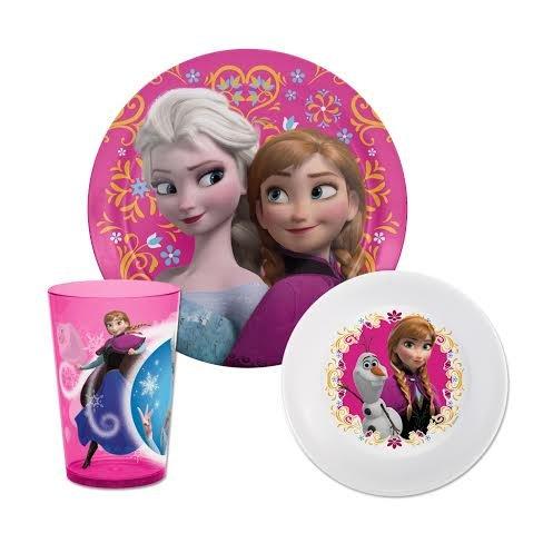 Disney'S Frozen Mealtime 3-Piece Set , Plate, Bowl & Tumbler