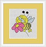 Bee Cross Stitch Kit - Luca S - Beginner 6.5cm x 7.5cm
