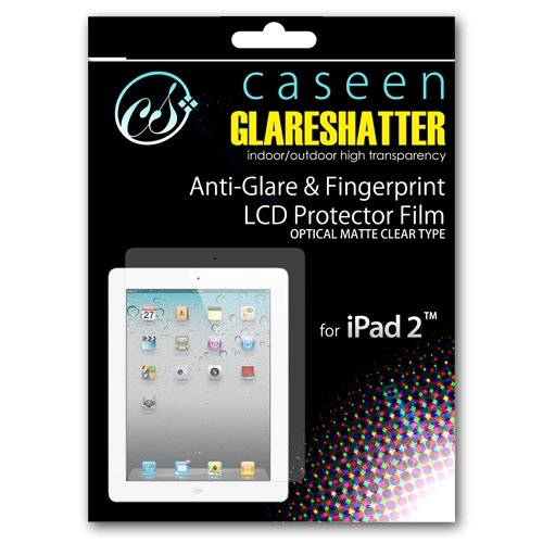 caseen GLARESHATTER Anti-Glare Screen Protector for Apple iPad 2