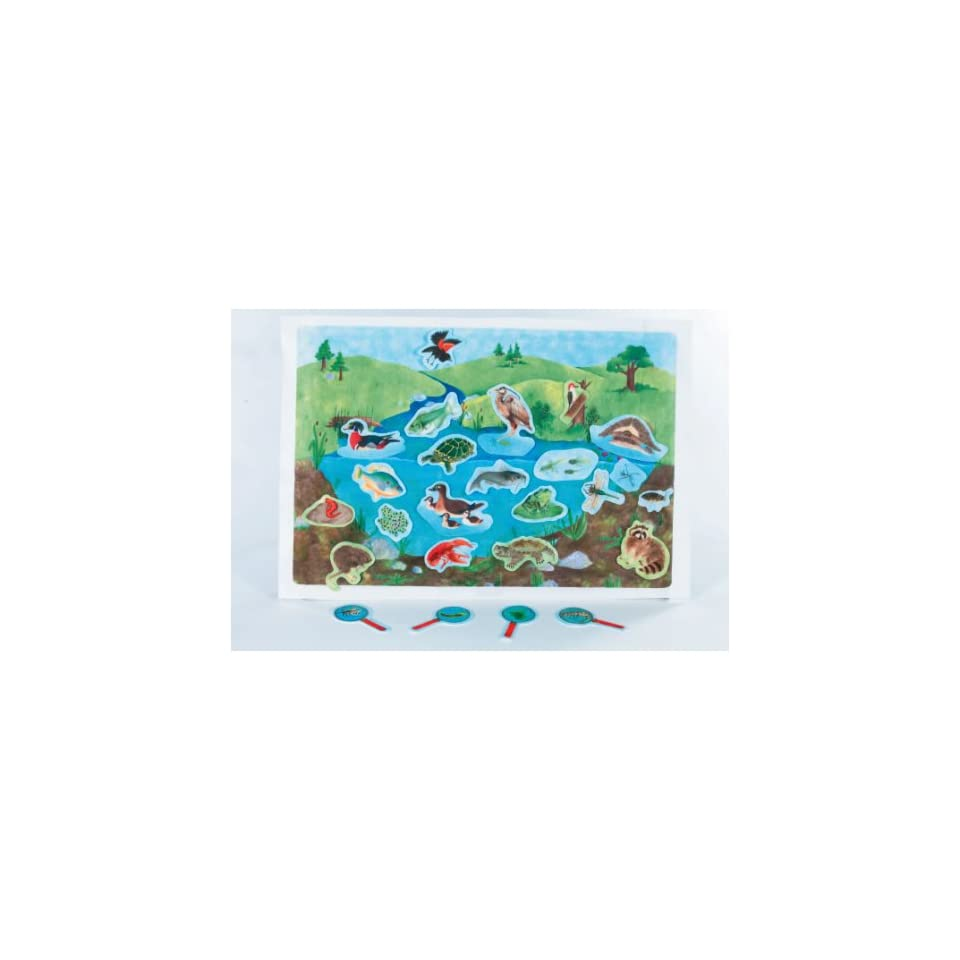 Down By The Pond   Pond Life Scene early learning flannelboard play set   Pre Cut Figures