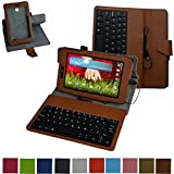 LG G Pad 7.0 micro usb Tastiera Custodia,Mama Mouth rotante Staccabile micro usb Tastiera (layout inglese) custodia in PU di cuoio pelle caso Case per LG G Pad 7.0 V400 V410 Tablet PC,Verde