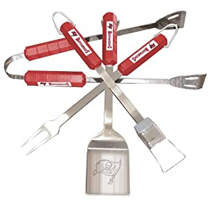 NFL Tampa Bay Buccaneers 4-Piece Barbecue Set by BSI