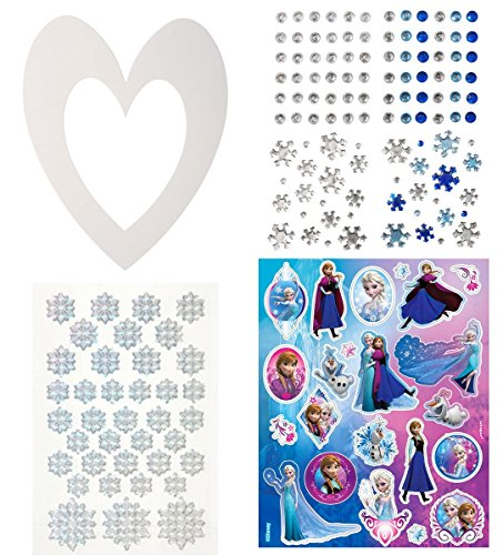 Frozen theme party craft kit 10 decorate your own white for Decorate your own picture frame craft