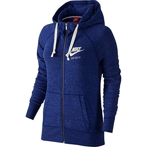 Nike Women's Gym Vintage Full_Zip Hoodie, Blue 726057-455 Size S