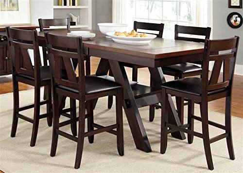 5-Pc Gathering Table Set in Espresso Finish
