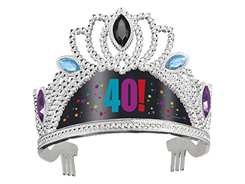 40th Birthday Cheer Tiara Party Princess Hat