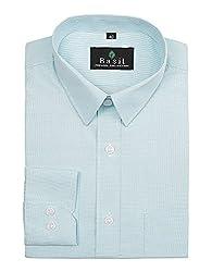 Basil Men's Poly Cotton Formal Shirt (BA380PLC43FSF-40, Turquoise, 40)
