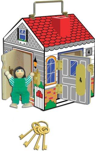 Melissa & Doug Deluxe Wooden Doorbell House