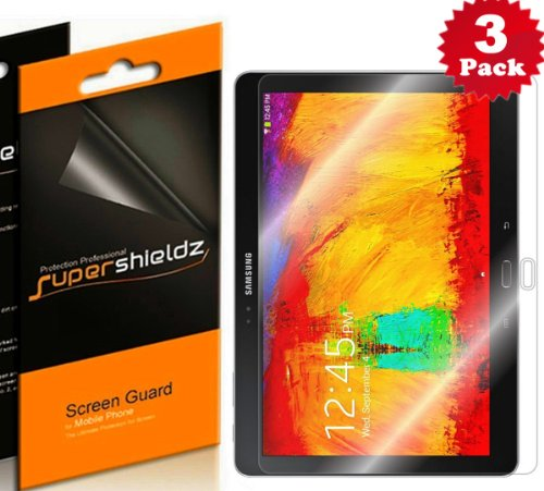 SUPERSHIELDZ- High Definition (HD) Clear Screen Protector for Samsung Galaxy Note 10.1 2014 Edition Tablet + Lifetime Replacements Warranty [3-PACK] - Retail Packaging from Electronic-Readers.com