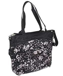 baby sac pinwheels diaper bag black one size baby. Black Bedroom Furniture Sets. Home Design Ideas