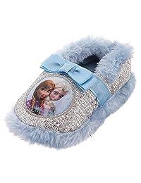 Disney Frozen Girls' Anna and Elsa Slippers