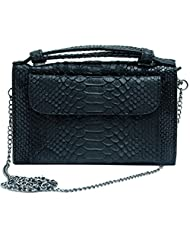 Super Drool Women Casual Black Leatherette Clutch