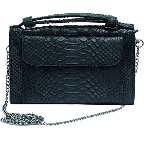 Super Drool Women Casual Black Leatherette Clutch