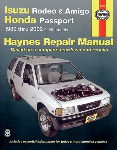 Isuzu Rodeo, Amigo '89-'02 (Haynes Manuals) front-502476