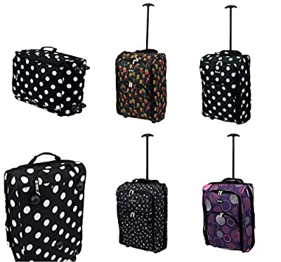 """21"""" / 55cm Airline Cabin Size Hand Luggage Carry On Cabin Bag Holdall Trolley - Ryanair"""