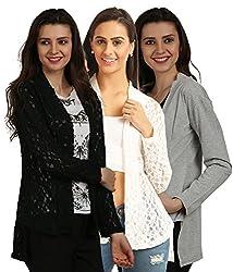 Women's Shrugs(Pack of 3)