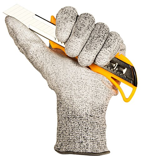 ThxToms Cut Resistant Work Gloves, EN388 Level 5 Protection, Industrial Grade, 1 Pair, Large Industrial Work Gloves