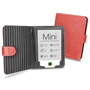 Cover-Up PocketBook Mini eReader Book Style Cover Case - Red at Electronic-Readers.com