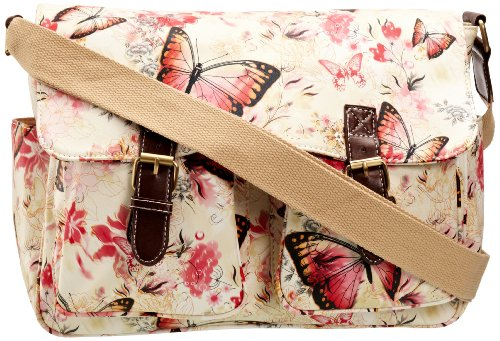 SwankySwans Girl's Maple Butterfly Print Satchel