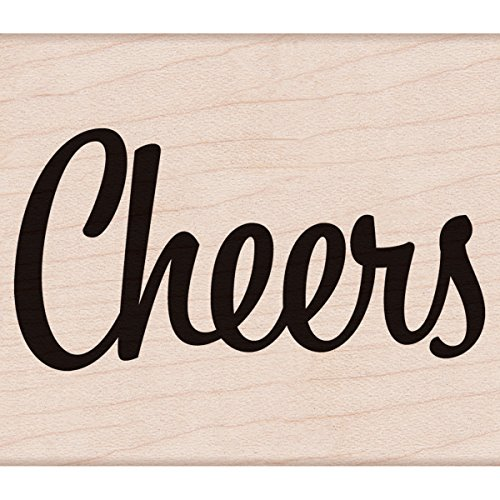 "Hero Arts Bold Cheers Mounted Rubber Stamp, 2.75"" by 3.25"" - 1"
