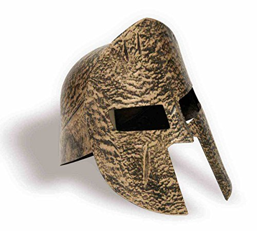 Spartan Knight Helmet Gold Adult Costume Accessory 300 Warrior Trojan Soldier