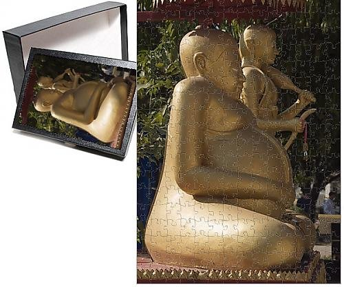 Photo Jigsaw Puzzle of Fat Buddha, Wat Si Saket, Vientiane, Laos, Indochina, Southeast Asia, Asia