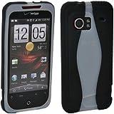 Verizon Oem Htc Droid Incredible Adr6300 Silicone Cover Case (Black & White)