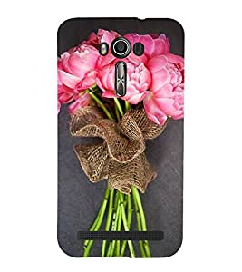 Bouquet of Pink Flowers 3D Hard Polycarbonate Designer Back Case Cover for Asus Zenfone 2 Laser ZE500KL (5 INCHES)