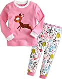Vaenait Baby 1-7 Years Girls Longsleeve Pyjama Sleepwear Set Mini Bambi M