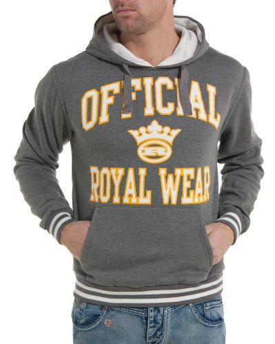 Royal Wear - Gray hooded sweatshirt and man fashion trend - Color: Grey Size: S