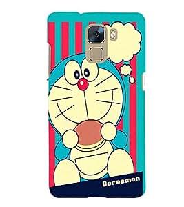 Printvisa Premium Back Cover cartoon character in blue Design For Huawei Honor 7