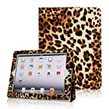 Fintie (Leopard Brown) Folio Case Cover for iPad 4th Generation With Retina Display, the new iPad 3 & iPad 2 (Built-in magnet for sleep / wake feature)