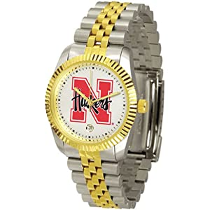 Nebraska Cornhuskers Suntime Mens Executive Watch - NCAA College Athletics by Sun Time/Links Warner