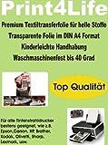 P4L - 15 Blatt A4 T-Shirt Folie Transferfolie Textilfolie Transferpapier klar/transparent