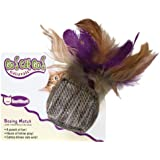OurPets Cube w/Feathers Boxing Match Cat Toy