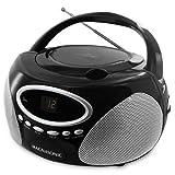 Magnasonic Programmable CD Player AM/FM Radio Boombox - Magnasonic MAG-MA173K