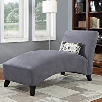 Big Sale Handy Living 340CL-AAA16-084 Microfiber Chaise, Gray