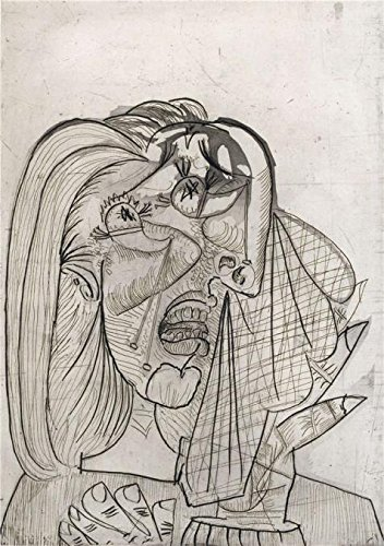 canvas-prints-of-oil-painting-pablo-picasso-weeping-woman1937-12-x-17-inch-30-x-43-cm-high-quality-p