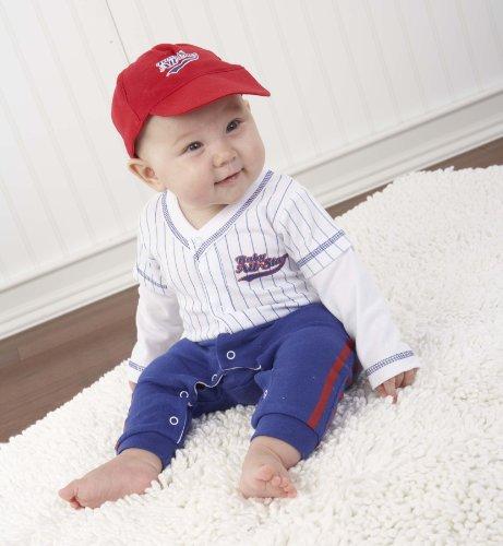 Imagen de Bebé Aspen Big Baby Dreamzzz Canastilla Baseball conjunto con la caja de regalo, azul, 0-6 Meses