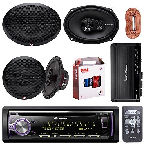 Click to buy Pioneer DEHX6800BT Bluetooth Car CD Receiver Bundle Combo With 2x Rockford Fosgate R165X3 6.5