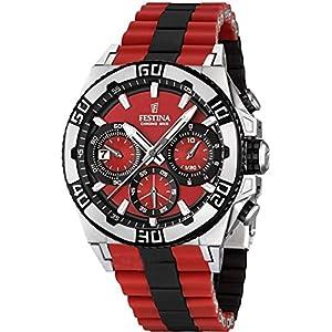 Festina Herren-Armbanduhr XL Chronograph Quarz verschiedene Materialien F16659/8